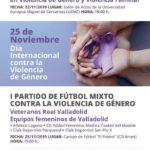Fútbol Mixto VALLADOLID Contra Violencia Genero Cartel