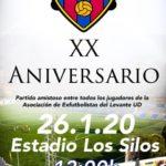 CARTEL LEVANTE UD - Partido celebracion 20 aniversario